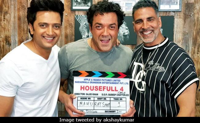Housefull 4 Begins. Akshay Kumar, Bobby Deol, Riteish Deshmukh Have A Warning For You