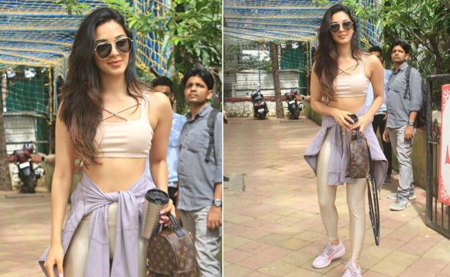 Kiara Advani Adds A Golden Touch To Athleisure Fashion