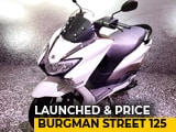 Video : Suzuki Burgman Street 125 Launched In India
