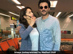 Madhuri Dixit Bumped Into Anil Kapoor At The Airport And It Was A <I>'Jhakaas</I> Moment'