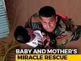 Video : In Kerala, Toddler Stranded On Rooftop Saved In Dramatic Rescue Ops