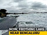Video : Residents Fume As Toxic Froth Builds Up In Lake Near Bengaluru
