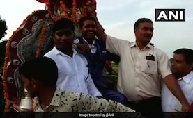 UP Dalit Groom Who Won Battle For Baraat Arrives In Style, With 150 Cops