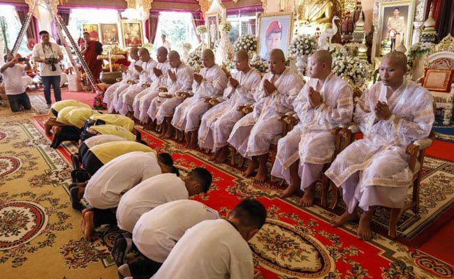 Thai Cave Boys Pray For Good Luck After First Night Home