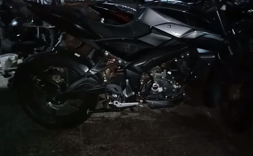 Bajaj Pulsar NS160 rear disc brake variant appears to have been spotted at a dealership stockyard