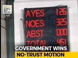 Video : Government Comfortably Wins Vote On Opposition-Backed No-Trust Motion
