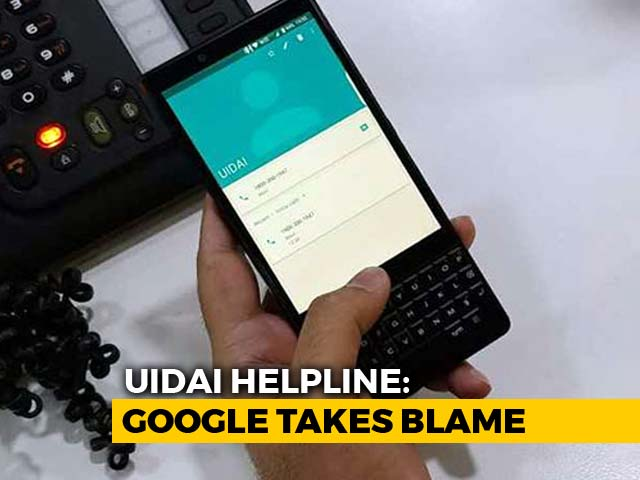 Video : Google Takes The Blame For UIDAI Number Showing Up In People's Phones
