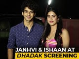 Video : Varun, Karan, Janhvi & Others At The Screening Of <i>Dhadak</i>