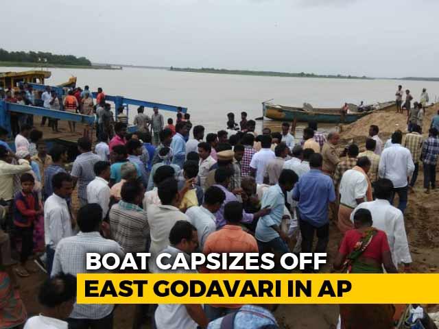 Video : 5 Missing In Boat Capsize In Andhra Pradesh's East Godavari