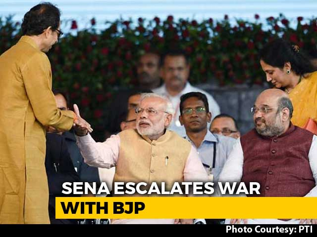 Video : After Amit Shah's Solo Fight Advice To BJP Workers, Sena Stings Again