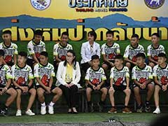 """Being Found Was Miracle"": Thai Boys In First Appearance After Rescue"