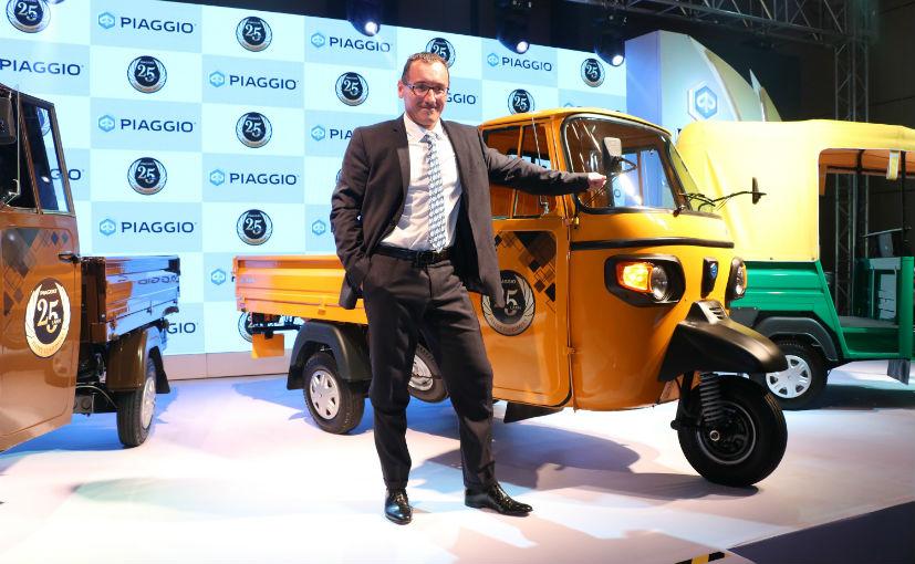 Diego Graffi - MD & CEO, Piaggio India with the special edition Piaggio Ape