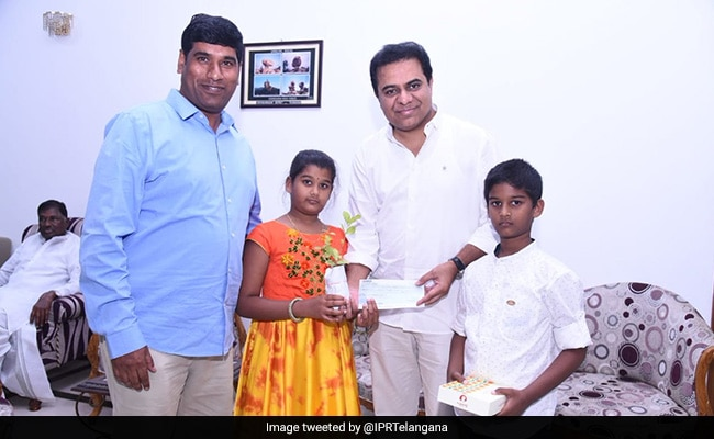 10 Year Old Gives 1 Lakh Birthday Party Money To Hyderebad Relief Fund