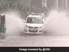 After Heavy Rain In Delhi, Roads Flooded, Long Traffic Jams