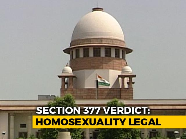 "Video : ""Homosexuality Not A Mental Disorder"": Supreme Court"