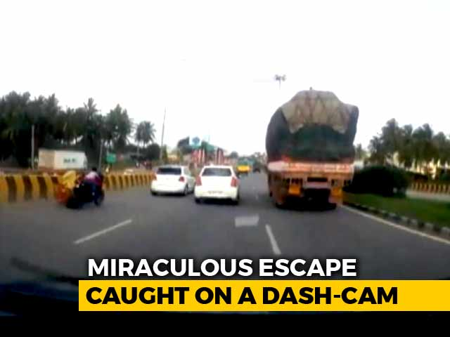 Dash-Cam Captures Bengaluru Bike Accident, Child's Mind-Boggling Escape