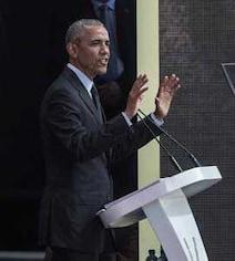 'I Believe In Mahatma Gandhi's Vision': Obama In Nelson Mandela Tribute