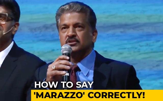 Video : Mahindra Tells You How To Say 'Marazzo' Correctly!