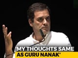 Video : In Germany, Rahul Gandhi Says His Thoughts Inspired By Guru Nanak