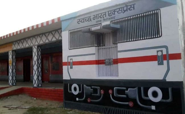 UP School Painted As Train To Attract Students, Promote 'Swachh Bharat'