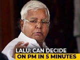 "Video : After Sharad Pawar's Math, Lalu Yadav's ""5-Minute Formula"" To Pick PM"