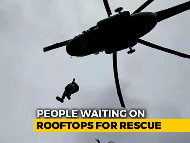 Video : Massive Air Rescue Operation On In Rain-Ravaged Kerala, 73 Dead