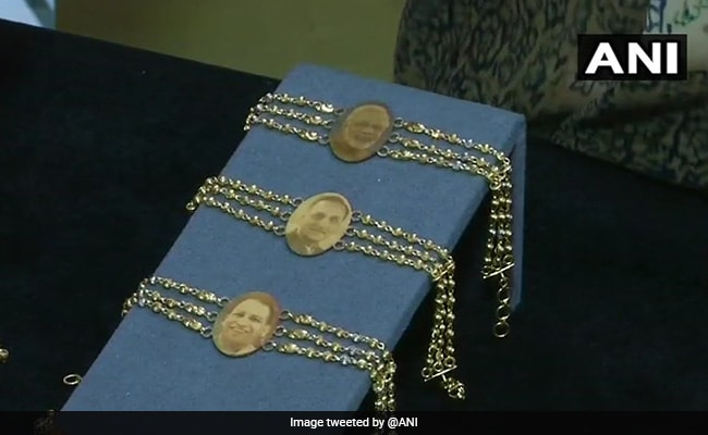 Gold Rakhis At Rs 50,000 With PM Modi And Yogi Adityanath's Pictures