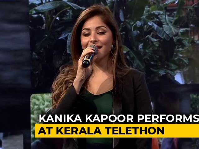 Video: Kanika Kapoor's Upbeat Performance At #IndiaForKerala Telethon