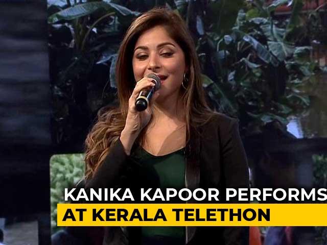 Video: Kanika Kapoor's Upbeat Performance At #IndiaForKerala Telethon