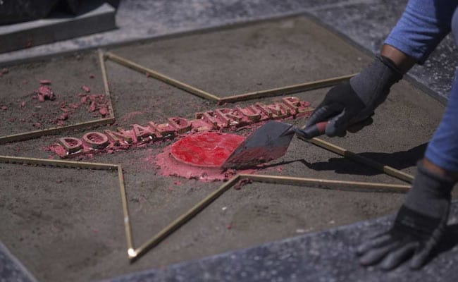 Trump's Hollywood Walk of Fame star vandalized