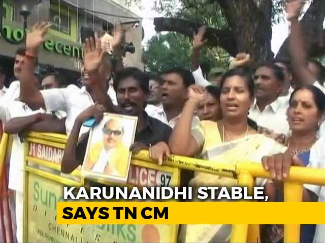 Video : What Draws Crowds To The Hospital Where Karunanidhi Is Being Treated