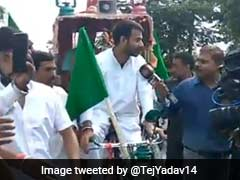 Tej Pratap Yadav Mocked By BJP's Sushil Modi For Driving Rickshaw