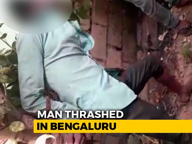 Video : Man Tied To Tree, Thrashed By Mob Over Kidnapping Suspicion In Bengaluru