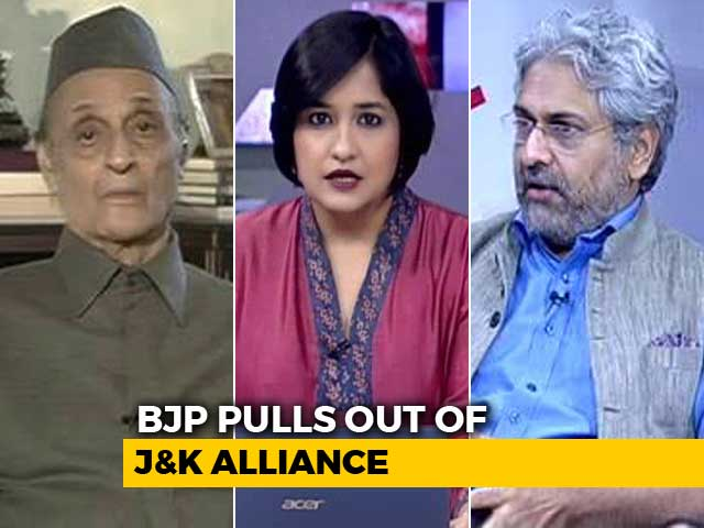 Video : BJP Dumps PDP: What Next For Jammu And Kashmir?