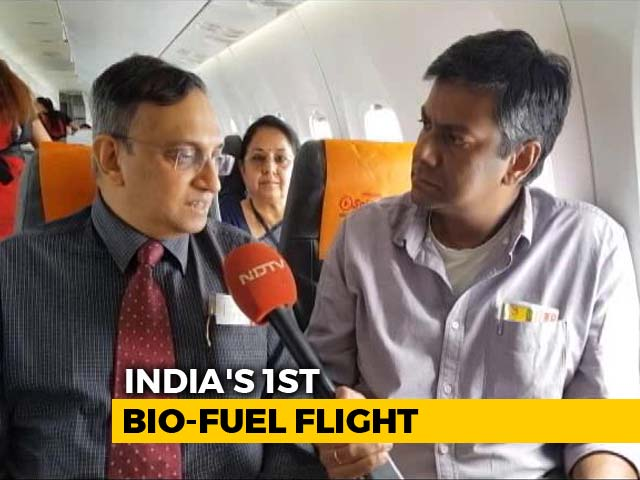 Video : Exclusive: On-Board India's First Bio-Jet Fuel Flight