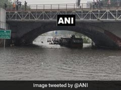 Passengers Rescued From Bus Half-Submerged On Waterlogged Delhi Road