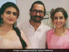 Bakra Eid 2018: Aamir Khan, Fatima Sana Shaikh And Sanya Malhotra's <I>Dangal</i> Reunion Party Pics