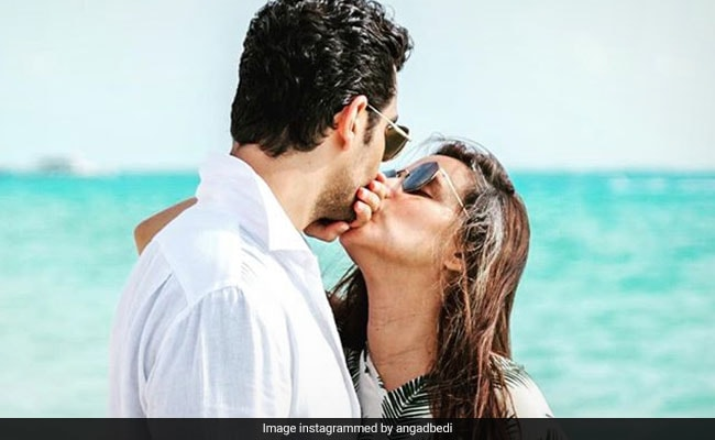 Neha Dhupia Gets A Kiss From Angad Bedi In Birthday Post