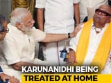 "Video : ""Pray For Your Recovery,"" Tweets PM Modi As Karunanidhi's Health Worsens"