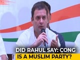 "Video : Did Rahul Gandhi Say ""Congress Is Muslim Party""? Urdu Daily Clarifies"