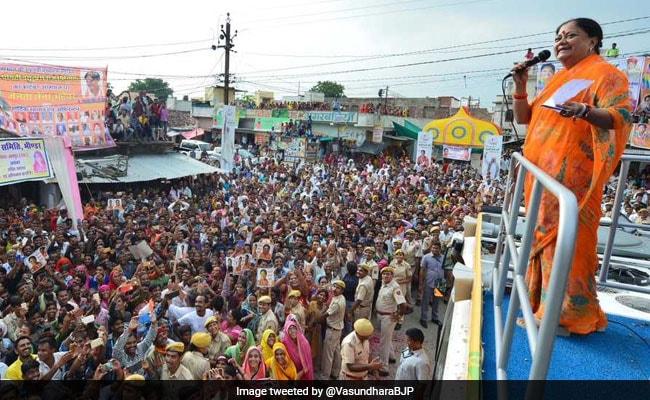 Congress Demands Suspension Of Vasundhara Raje's Gaurav Yatra