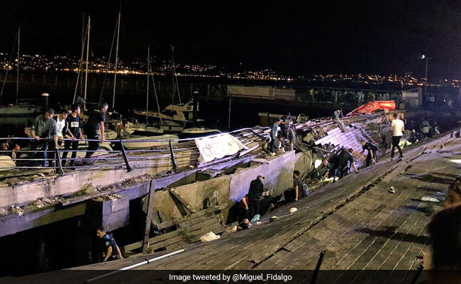 Hundreds Injured As Spanish Festival Platform Collapses Into Sea