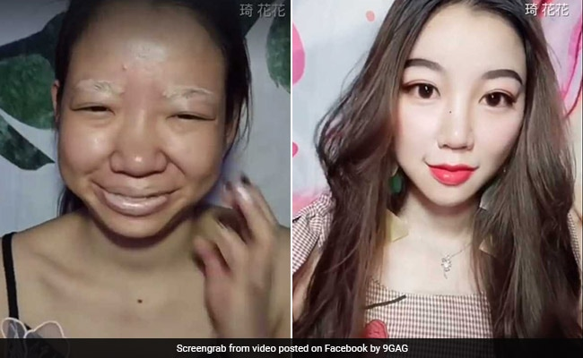 Viral: Makeup Video Transformation Will Leave You Stunned  See The Trick