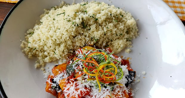 Couscous with Ratatouille - Tangy Tomato Sauce