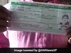 UP University's Goof-Up On Student Admit Card - Amitabh Bachchan Photo