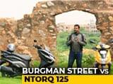 Video: Comparison: Suzuki Burgman Street vs TVS NTorq 125