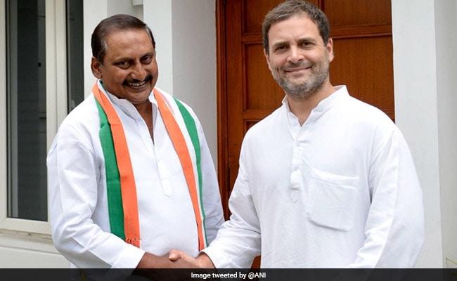 कांग्रेस में वापस आये किरण कुमार रेड्डी