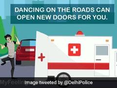 दिल्ली पुलिस ने Kiki Challenge पर ली चुटकी, दिखाया एंबुलेंस का दरवाजा
