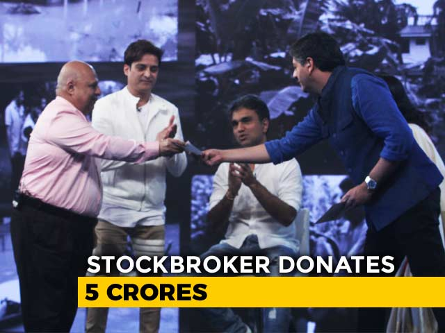 Video : Pradeep Bhavnani Donates Rs 5 Crore At #IndiaForKerala Telethon