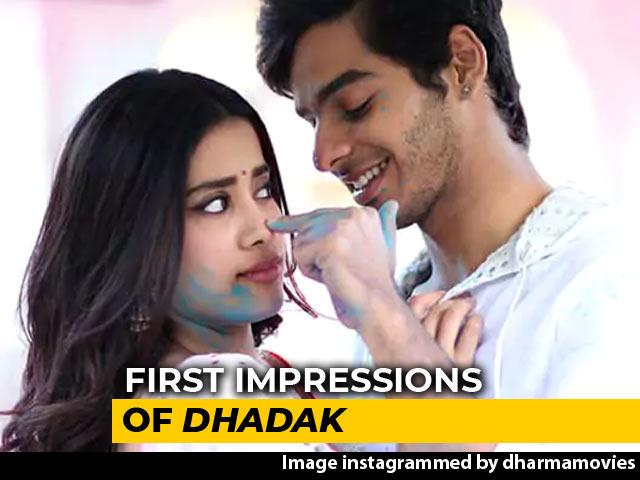 First Impressions Of Janhvi & Ishaan's Dhadak